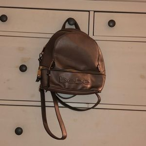 Bebe Mini metallic backpack